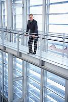 Businessman in modern building portrait