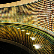 "The Freedom Wall is on the west side of the National World War II Memorial and has 4,048 gold stars, each representing 100 Americans who died in the war. In front of the wall lies the message ""Here we mark the price of freedom""."