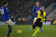 Gerard Deulofeu of Watford chases the ball during the Premier League match between Leicester City and Watford at the King Power Stadium, Leicester, England on 4 December 2019.