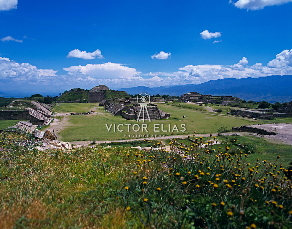 Mixtec ruins of Monte Alban. Oaxaca, Mexico.