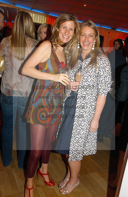Left to right, ELAINE FATTAL and ANYA HINDMARCH at a party hosted by Elizabeth Saltzman and Harvey Nichols to celebrate the UK launch of New York fashion designer Tory Burch held at the Fifth Floor Restaurant, Harvey Nichols, Knightsbridge, London on 24th May 2006.<br />