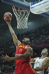 September 17, 2018 - Madrid, Madrid, Spain - Sebastian Saiz of Spain in action  during the 2019 FIBA Basketball World Cup qualification match between Spain and Latvia at WiZink Center in Madrid, Spain, 17 September 2018  (Credit Image: © Oscar Gonzalez/NurPhoto/ZUMA Press)