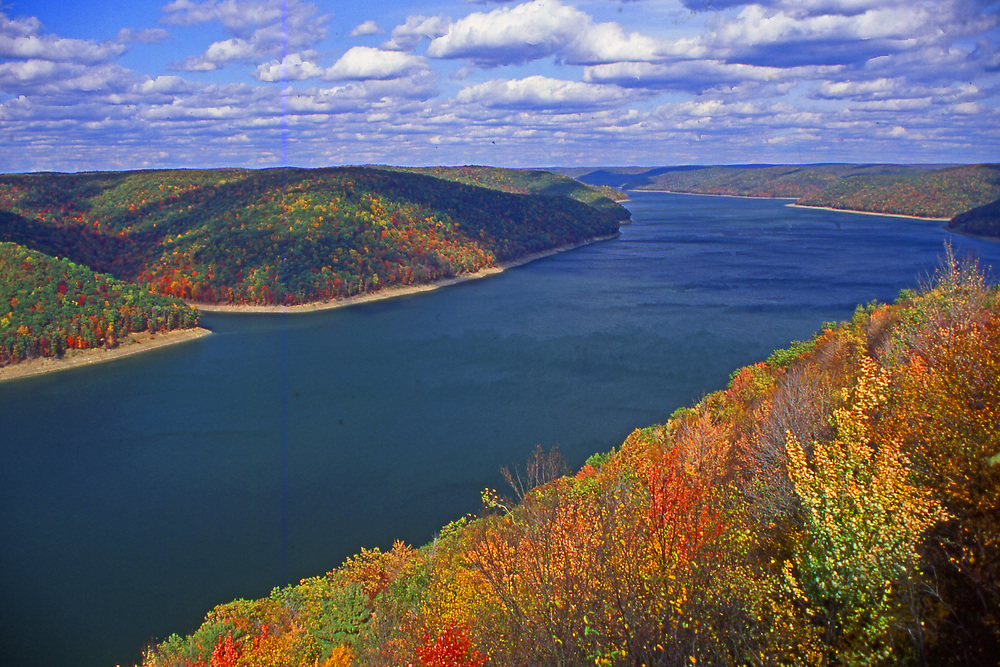 Lake and autumn forest, Allegheny National Forest, Pennsylvania