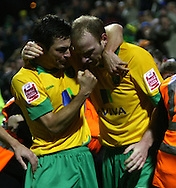 Yeovil - Saturday December 12th, 2009:  Norwich's Gary Doherty scores his second and his sides 3rd and equalising goal and celebrates during the Coca Cola League One match at Huish Park, Yeovil. (Pic by Paul Chesterton/Focus Images)