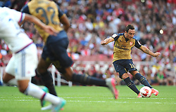 Santi Cazorla of Arsenal scores a free kick  - Mandatory by-line: Joe Meredith/JMP - 25/07/2015 - SPORT - FOOTBALL - London,England - Emirates Stadium - Arsenal v Lyon - Emirates Cup