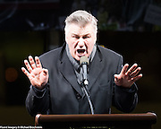"""Alec Baldwin impersonating Donald Trump at an anti-Trump rally. See more images by clicking on """"Image Galleries +"""" at the top left of this page, then selecting """"All Galleries"""" and then selecting """"Anti-Trump Administration Rallies""""."""