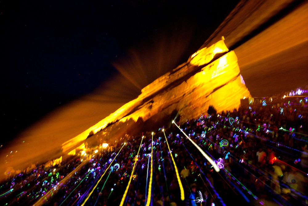 Red Rocks Amphitheater Morrison, Colorado. Kinetic Light Photography.