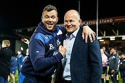 Bristol Rugby First Team Coach Sean Holley and Director of Rugby Andy Robinson celebrate  after winning the Championship Final and promotion to the Aviva Premiership - Mandatory byline: Rogan Thomson/JMP - 25/05/2016 - RUGBY UNION - Ashton Gate Stadium - Bristol, England - Bristol Rugby v Doncaster Knights - Greene King IPA Championship Play Off FINAL 2nd Leg.