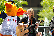 MAY 14, 2010: American Idol contestant Crystal Bowersox performs in Levis Square for her hometown celebration in Toledo, Ohio.