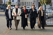 Civil rights attorney Gloria Allred, center, heading to court. On the left is the couple she represented in California's same-sex marriage litigation; they and the couple on the right are parties in today's Proposition 8 litigation....photo by Jason Doiy.3-5-09.