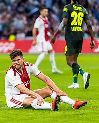14-08-2018 NED: Champions League AFC Ajax - Standard de Liege, Amsterdam<br /> Third Qualifying Round,  3-0 victory Ajax during the UEFA Champions League match between Ajax v Standard Luik at the Johan Cruijff Arena / Klaas Jan Huntelaar #9 of Ajax