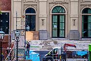 DEN HAAG - Paleis Huis ten Bosch staat in de steigers wegens een verbouwing. Het paleis wordt in een keer verbouwd voor een bedrag van 59 miljoen euro.  copyrught robin utrecht