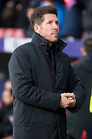 Atletico de Madrid coach Diego Pablo Simeone during La Liga match between Atletico de Madrid and Valencia C.F. at Wanda Metropolitano in Madrid , Spain. February 04, 2018. (ALTERPHOTOS/Borja B.Hojas)