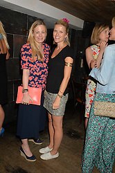 Left to right, ASTRID HARBORD and ZOE WARREN at the launch of Geisha at Ramusake hosted by Piers Adam and Marc Burton at Ramusake, 92B Old Brompton Road, London on 11th June 2015.