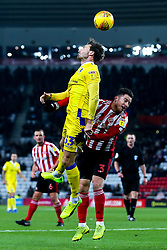 Alex Rodman of Bristol Rovers beats Bryan Oviedo of Sunderland to a header - Mandatory by-line: Robbie Stephenson/JMP - 15/12/2018 - FOOTBALL - Stadium of Light - Sunderland, England - Sunderland v Bristol Rovers - Sky Bet League One