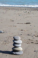 Stack on stones on Killiney Beach in Dublin Ireland