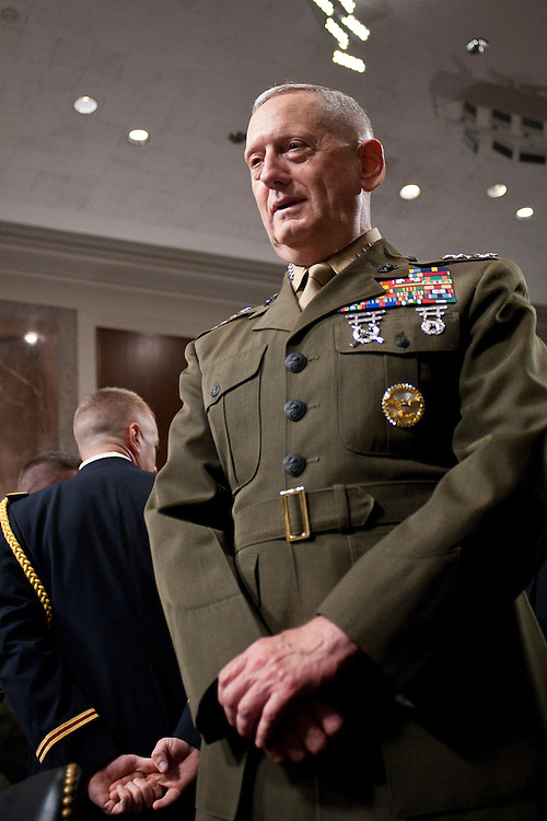 Jul 27, 2010 - Washington, District of Columbia, U.S., -. Marine Corps Gen. JAMES  MATTIS appears before the Senate Armed Services Committee for a hearing on his nomination for reappointment to the grade of general and to be commander of the United States Central Command. (Credit Image: © Pete Marovich/ZUMA Press)