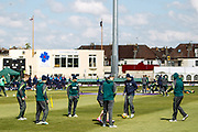 The Ireland team warm-up before the One Day International match between England and Ireland at the Brightside County Ground, Bristol, United Kingdom on 5 May 2017. Photo by Andrew Lewis.