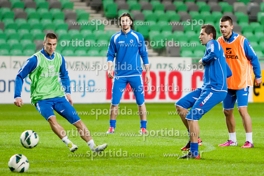 Team Bosnia and Herzegovina before friendly football match between National teams of Slovenia and Bosnia and Herzegovina, on February 5, 2013 in SRC Stozice, Ljubljana, Slovenia. (Photo By Urban Urbanc / Sportida.com)
