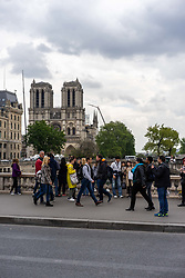 May 3, 2019 - Paris, France - Cathedrale de Notre-Dame de Paris en reconstruction (Credit Image: © Panoramic via ZUMA Press)