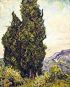 Cypresses by Vincent Van Gogh,  1889
