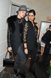 Left to right, MASHA MARKOVA and BRENDA COSTA at The Great Initiative event in association with jewellers Boodles held at The Corinthia Hotel, London on 6th November 2012.