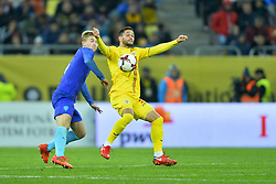 November 14, 2017 - Bucharest, Romania - Florin Andone (Rom) during the International Friendly match between Romania and Netherlands at National Arena Stadium in Bucharest, Romania, on 14 november 2017. (Credit Image: © Alex Nicodim/NurPhoto via ZUMA Press)