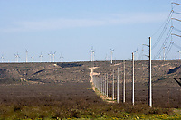 Electric Power lines from West Texas wind farms.
