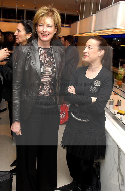 Left to right, JULIA PEYTON-JONES and MAUREEN PALEY at a dinner hosted by Cartier to celebrate the opening of the 2004 Frieze Art Fair, held at Yauacha 15-17 Broadwick Street, London W1 on 13th October 2004.<br />