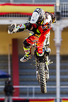 Spanish Fmx rider Maikel Melero during qualifying Red Bull X-Fighters 2016 at Madrid. 22,06,2016. (ALTERPHOTOS/Rodrigo Jimenez)