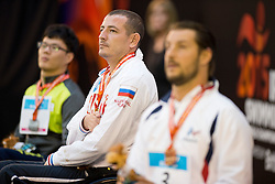 JO Giseong, MUSTAFAEV Eskender, SMETANINE David KOR, RUS, FRA at 2015 IPC Swimming World Championships -  Men's 50m Freestyle S4