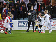 Easter  coaching cpurse kids on the Dens pitch at half time of the derby - Dundee v Dundee United - SPFL Premiership at Dens Park<br /> <br />  - &copy; David Young - www.davidyoungphoto.co.uk - email: davidyoungphoto@gmail.com
