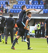 Luka Tankulic gives Thomas Konrad at the end after Konrad had headed home Dundee's winner -  St Johnstone v Dundee, SPFL Premiership at McDiarmid Park<br /> <br />  - &copy; David Young - www.davidyoungphoto.co.uk - email: davidyoungphoto@gmail.com