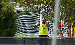 HARVARD, USA - Monday, July 21, 2014: Liverpool's Kolo Toure during a preseason training session at the Harvard Stadium in Boston on day one of their USA Tour. (Pic by David Rawcliffe/Propaganda)