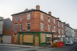Boardedup corner shop on Collison Street; Hyson Green which had also been used as a Law Centre,