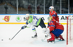Jan Urbas of Slovenia vs Lars Haugen of Norway during the 2017 IIHF Men's World Championship group B Ice hockey match between National Teams of Slovenia and Norway, on May 9, 2017 in Accorhotels Arena in Paris, France. Photo by Vid Ponikvar / Sportida
