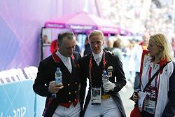 Davison, Richard;<br /> Sayn-Wittgenstein, Nathalie zu<br /> , <br /> London - Olympische Spiele 2012<br /> <br /> Dressur Grand Prix de Dressage<br /> © www.sportfotos-lafrentz.de/Stefan Lafrentz