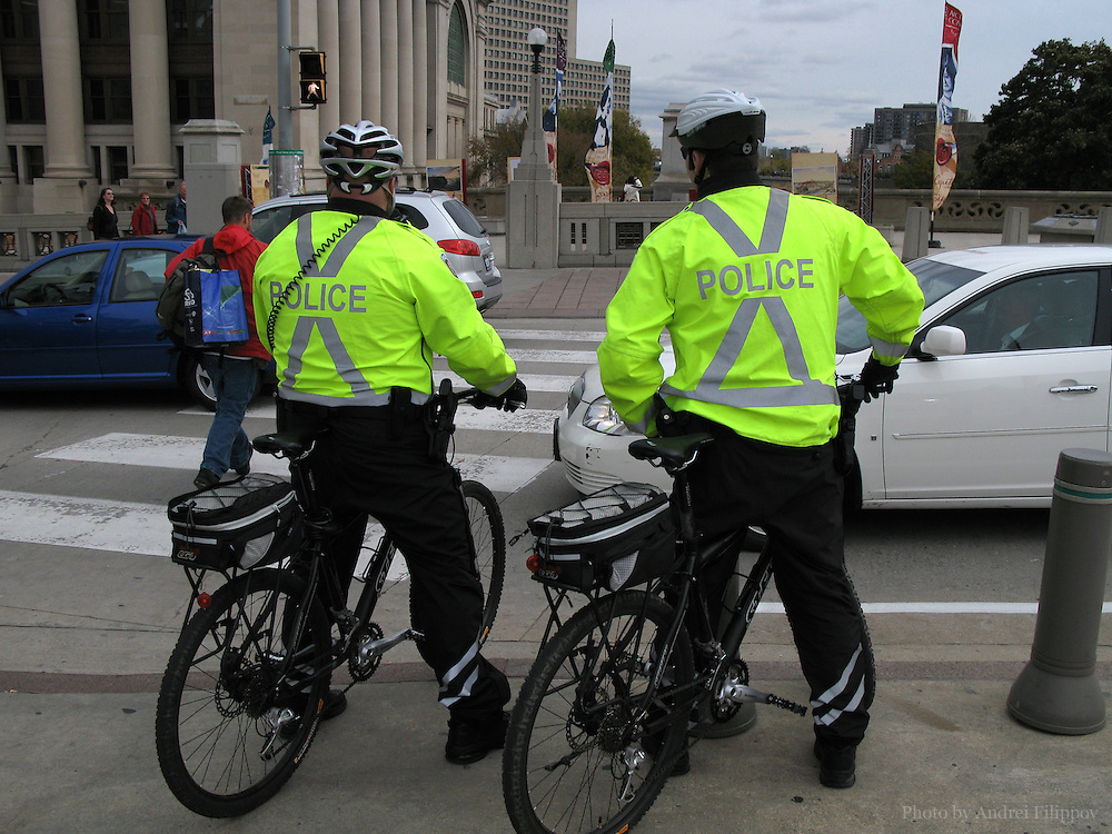 Police patrolling downtown Ottawa, Canada