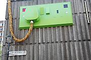 The Giant Plug sculpture, Ganton Street, London