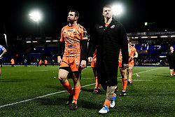 Dragons leave the field looking dejected after the final whistle of the match  - Ryan Hiscott/JMP - 26/12/19 - SPORT - Arms Park - Cardiff, Wales - Thursday, Dec 26 2019 - Guinness PRO14 Cardiff Blues vs Dragons