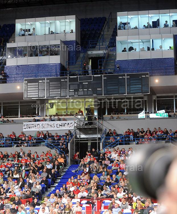 TENIS, BEOGRAD, 03. Dec. 2010. -  Komentatorske pozicije. Finale Davis cup-a izmedju selekcija Srbije i Francuske koje se igra od 3-5 decembra u beogradskoj Areni. Official opening for Davis cup final Serbia vs France. Foto: Nenad Negovanovic