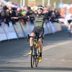26-01-2020: Wielrennen: Wereldbeker Veldrijden: Hoogerheide <br />Lucinda Brand wint de laatste manche WB Hoogrheide