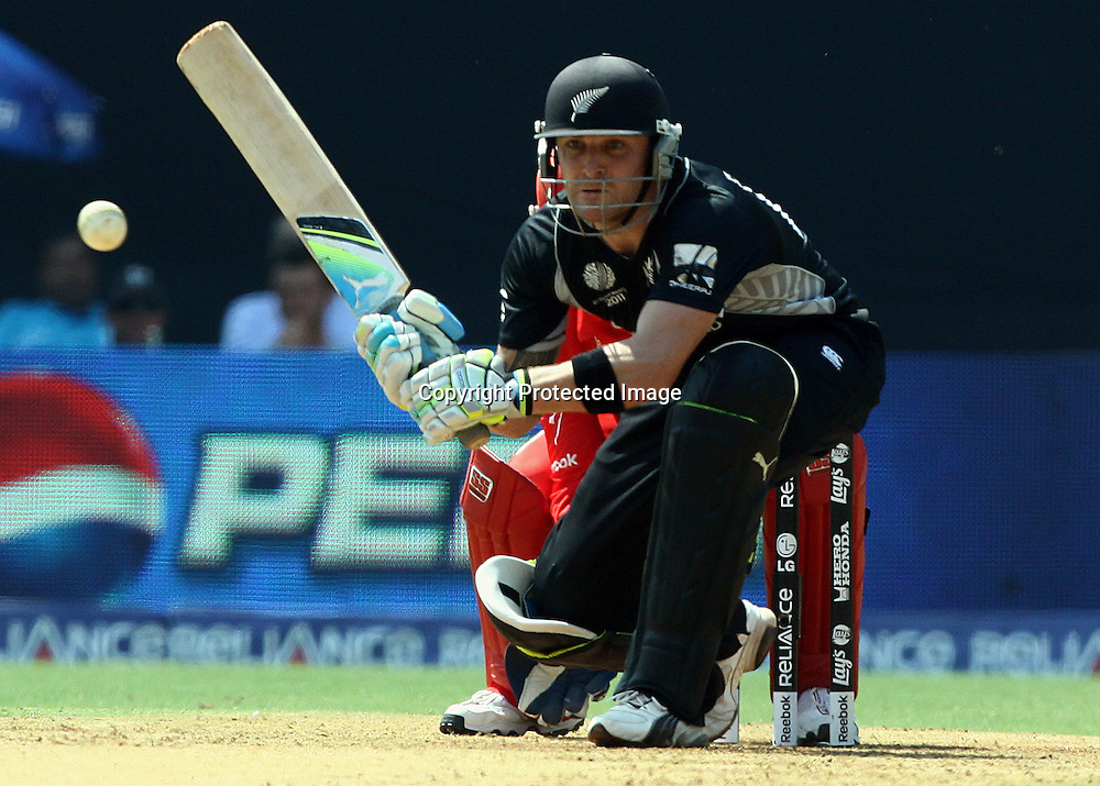 New Zealand batsman Brendon McCullum plays a shot against Canada During the ICC Wolrd Cup-2011 Canada vs New Zealand match Played at Wankhede Stadium, Mumbai,