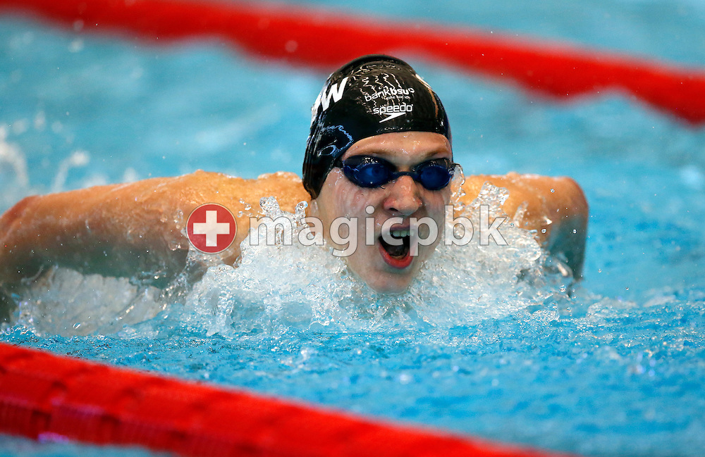 SCUW's Alexander BERNATSCHEK of Switzerland competes in the men's 200m Butterfly Heats during the Swiss Swimming Championships at the Piscine des Vernets in Geneva, Switzerland, Friday, March 15, 2013. (Photo by Patrick B. Kraemer / MAGICPBK)