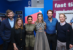 Edinburgh International Film Festival 2019<br /> <br /> Liberte: A Call To Spy (World Premiere)<br /> <br /> Pictured: (l to r) Rossif Sutherland, Director Lydia Dean Pilcher, Radhika Apte, Producer, writer & actor Sarah Megan Thomas, Marc Rissman and Linus Roche<br /> <br /> Alex Todd | Edinburgh Elite media