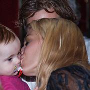 NLD/Amsterdam/20131021 - Boekpresentatie Let's Talk about Sex van Nicolette Kluiver, met partner Joost Staudt  en dochter