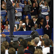 Presedential candidate Barack Obama speaks Thursday at Minges Coliseum in Greenville. (Jason A. Frizzelle)