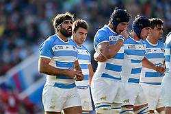 Juan Martin Fernandez Lobbe of Argentina looks on prior to a scrum - Mandatory byline: Patrick Khachfe/JMP - 07966 386802 - 04/10/2015 - RUGBY UNION - Leicester City Stadium - Leicester, England - Argentina v Tonga - Rugby World Cup 2015 Pool C.
