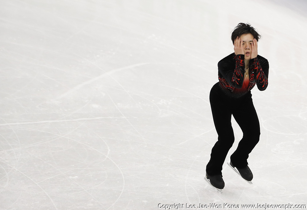 Shoma Uno (JPN), FEBRUARY 19, 2017 - Figure Skating : ISU Four Continents Figure Skating Championships 2017, Men's Free Skating at Gangneung Ice Arena in Gangneung, east of Seoul, South Korea.  Photo by Lee Jae-Won (SOUTH KOREA) www.leejaewonpix.com