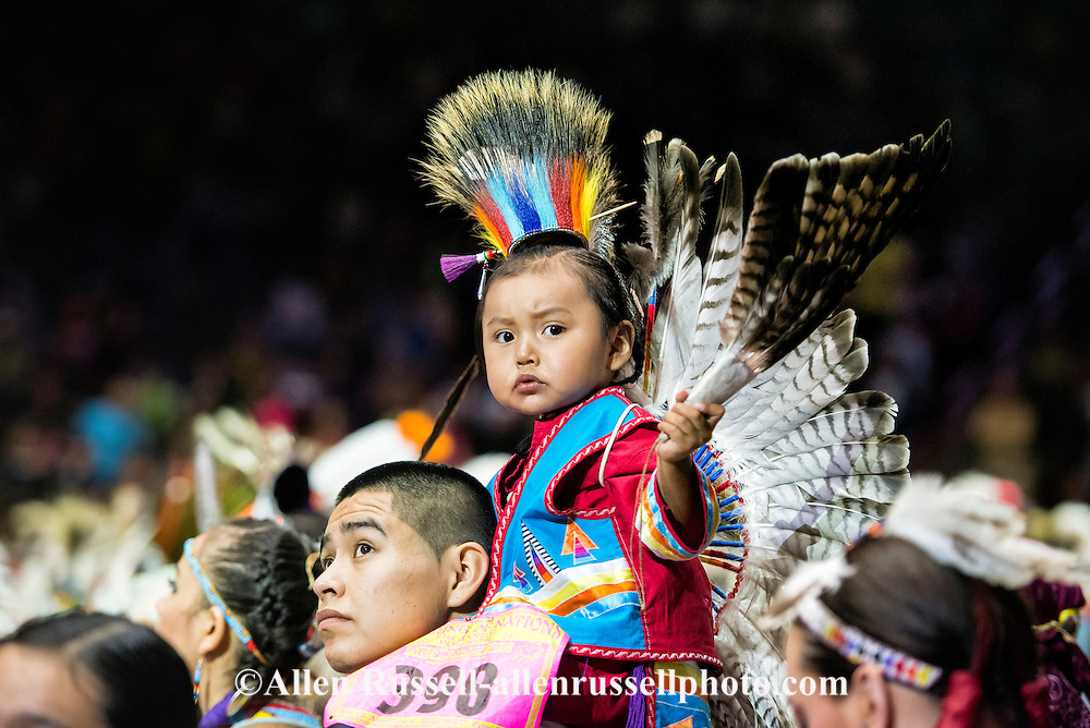 Gathering of Nations Pow Wow, father and son, Traditional Dancer, Albuquerque, New Mexico